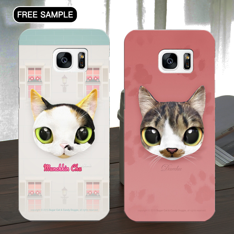 Free sample cat patterns design Phone case for samsung A9 smartphone case with L/C T/T