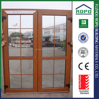 UPVC cheap house design wood color safety door grill