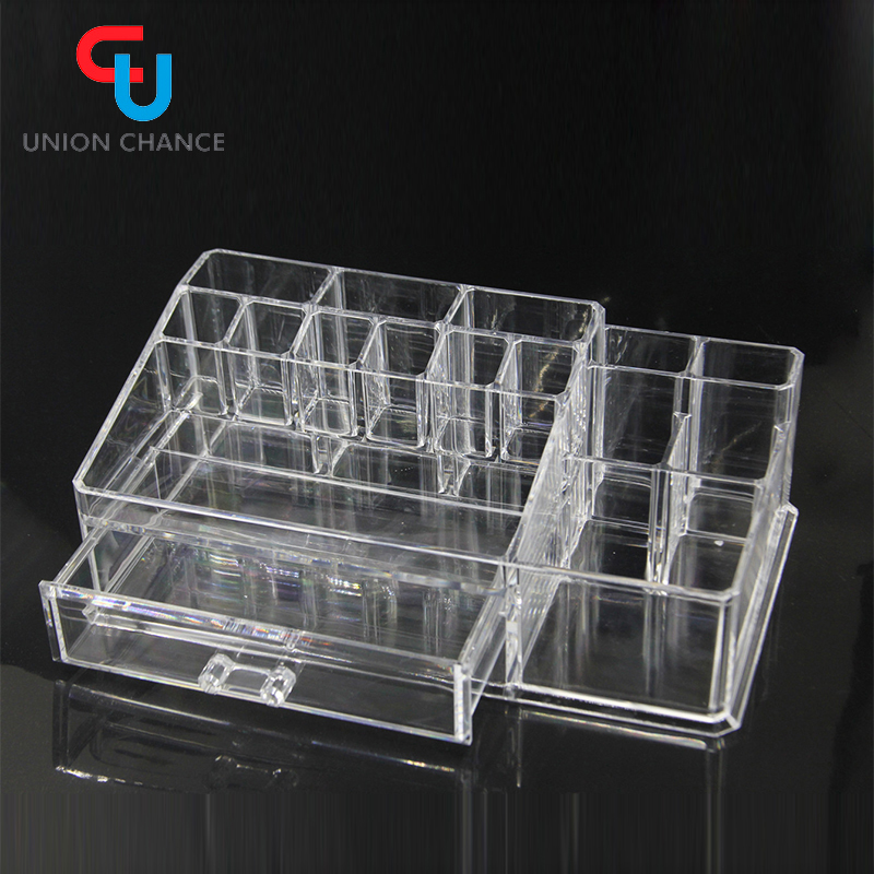 Union Chance Premium Quality Clear Plastic Makeup organizer acrylic cosmetic Organizer