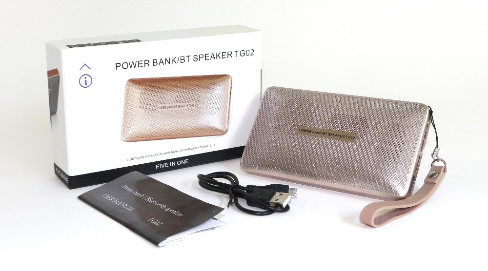 5 in 1 power bank,bluetooth speaker