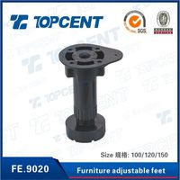 Kitchen ABS/PP different size plastic adjustable cabinet leg