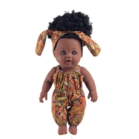 Black products and lifelike 12 inch black baby doll for kids children