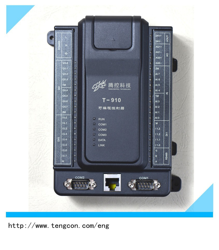 TENGCON plc T-910(8AI/2AO/12DI/8DO) for small industrial automation