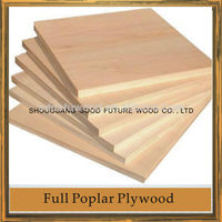 poplar plywood wood with face veneer prices