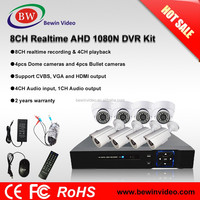 New Arrivals 2016 AHD 8CH DVR Kit 1080N CCTV Camera IR Night Vision P2P Dome Security Camera