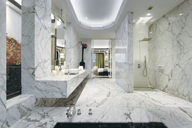 900x900mm Calacatta White Glazed marble tile