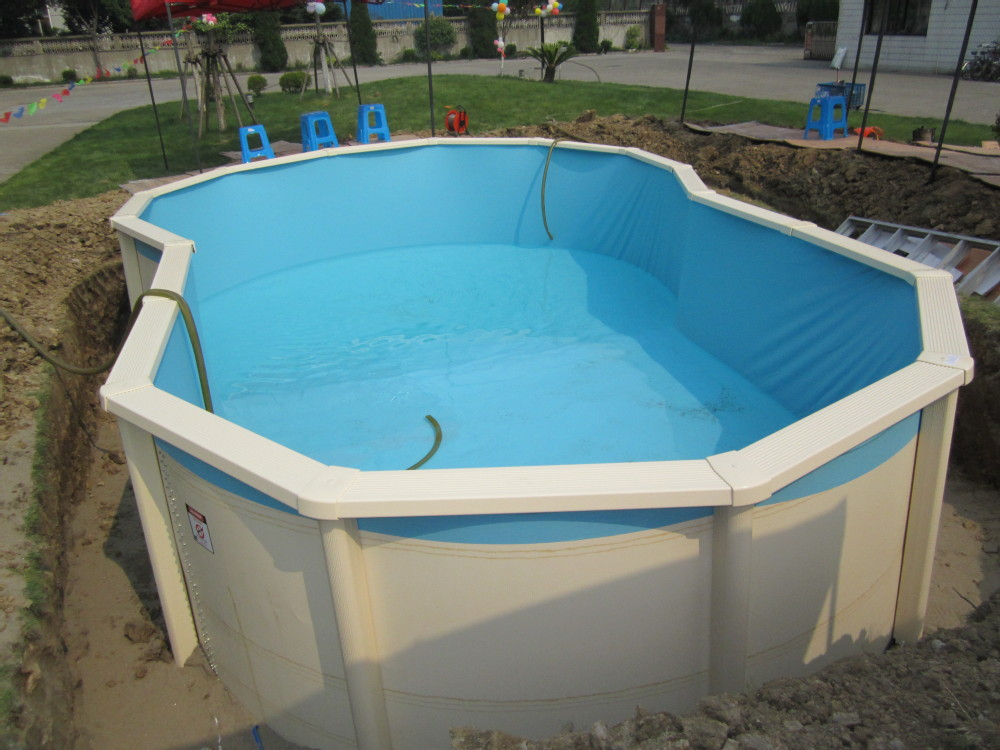 High quality above-ground half-ground in-ground galvanized steel swimming pool on sale