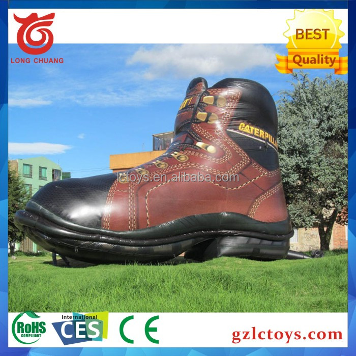 2017 Hot Selling Advertising inflatable replica shoe for propaganda