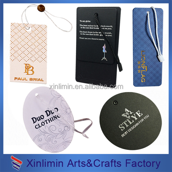 2015 Garment Hang Tag Template/ Paper Tag/ Printed Pvc Tag