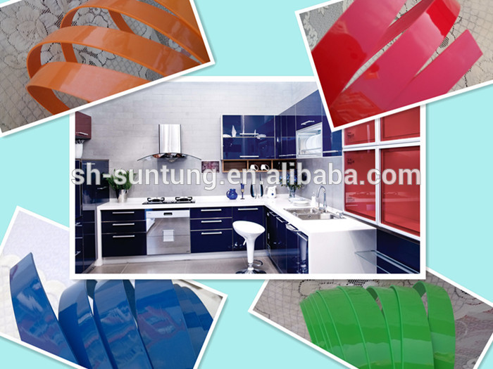 Furniture abs wood color edging plastic flexible edge for Abs trimming kitchen cabinets