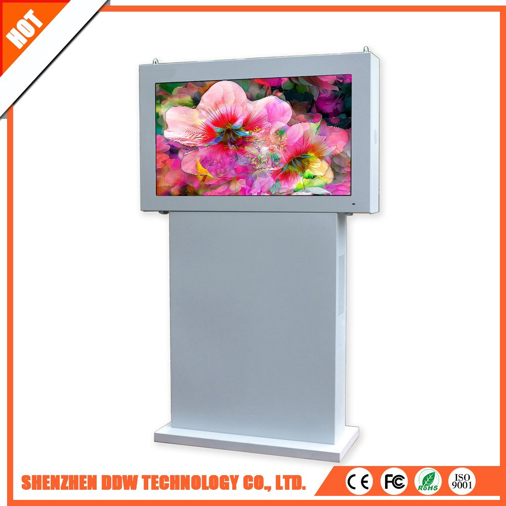 New product superior service lcd floor standing outdoor solar power advertising display
