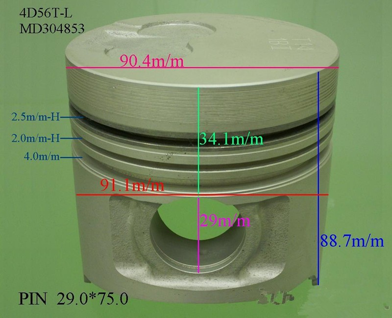 MITSUNISHI 4D56T Piston for Diesel Engine MD304853