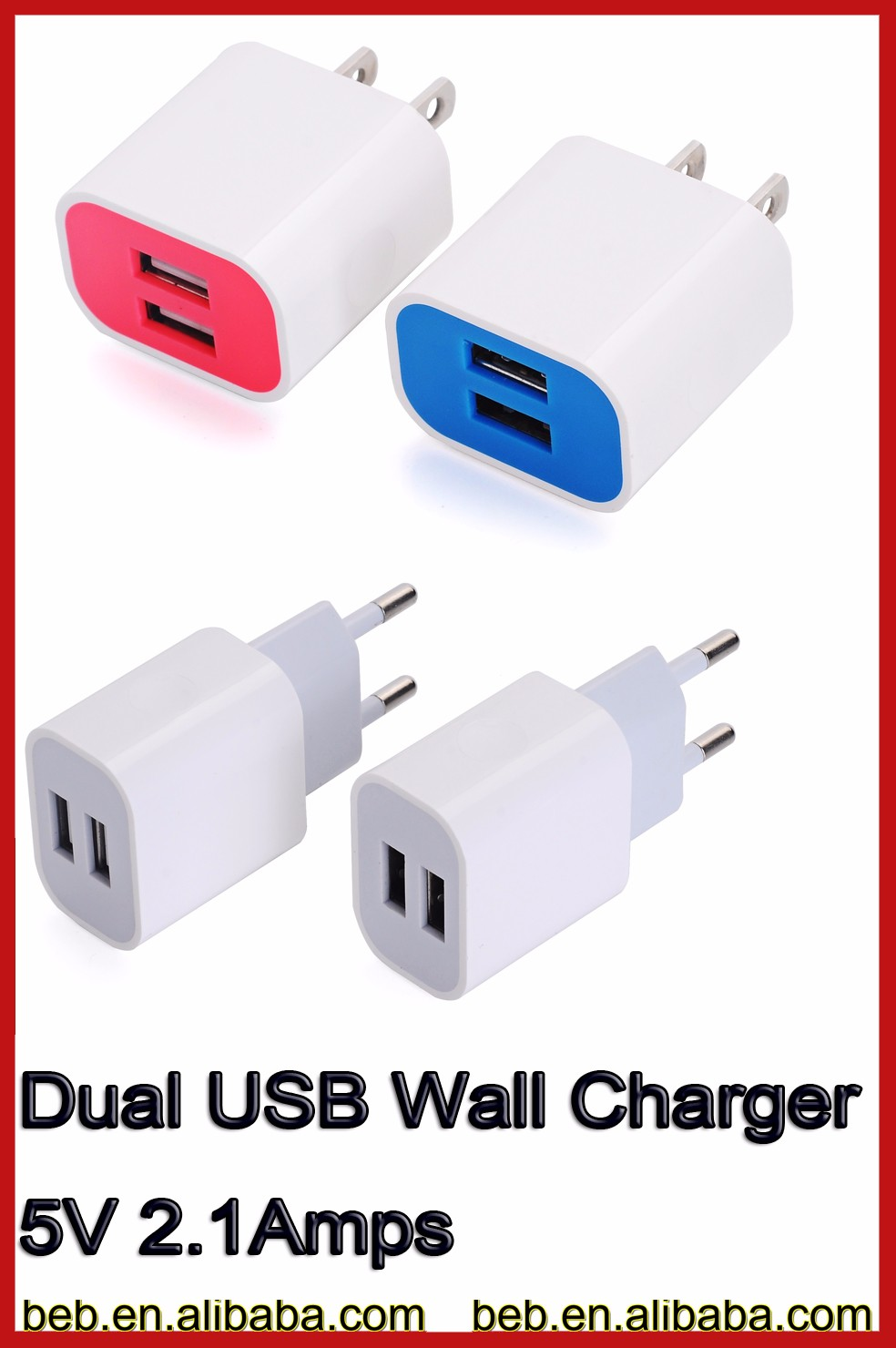 5v 2000ma wall charger for iphone samsung usb wall charger on hot promotion
