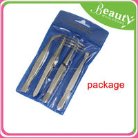 rubber coating slanted tip eyebrow tweezers ,H0T052, gold-plated tweezer