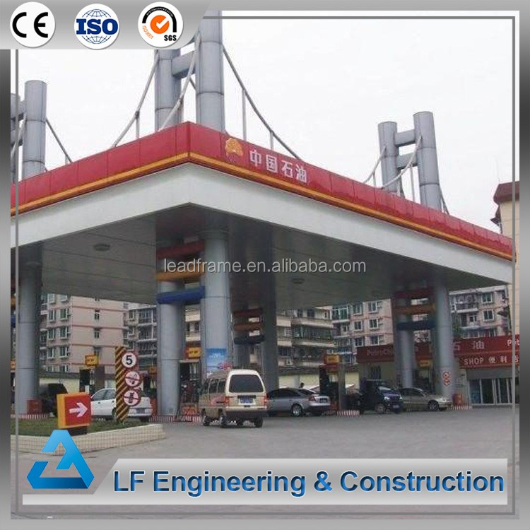 Light self-weight steel gas station used canopies for sale