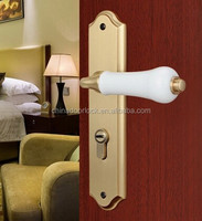 Brass door lock handle for wooden doors E50-52-US3B