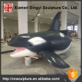 Outdoor Decoration Fiberglass Artificial Whale Sculpture