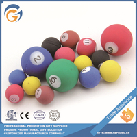 Mixed Color Printing Number 32mm Bouncing Ball