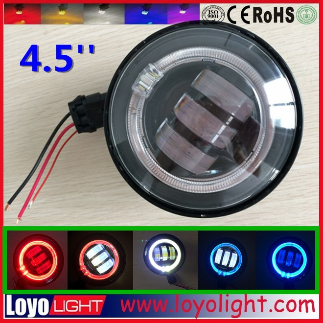 4.5'' led Fog light special for Harley motorcycle with angel eyes