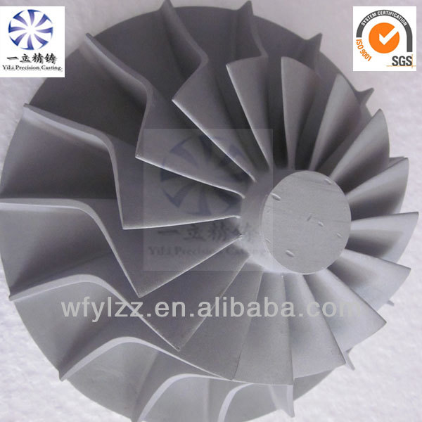 Aluminum alloy blower impeller used for marine navigation equipment