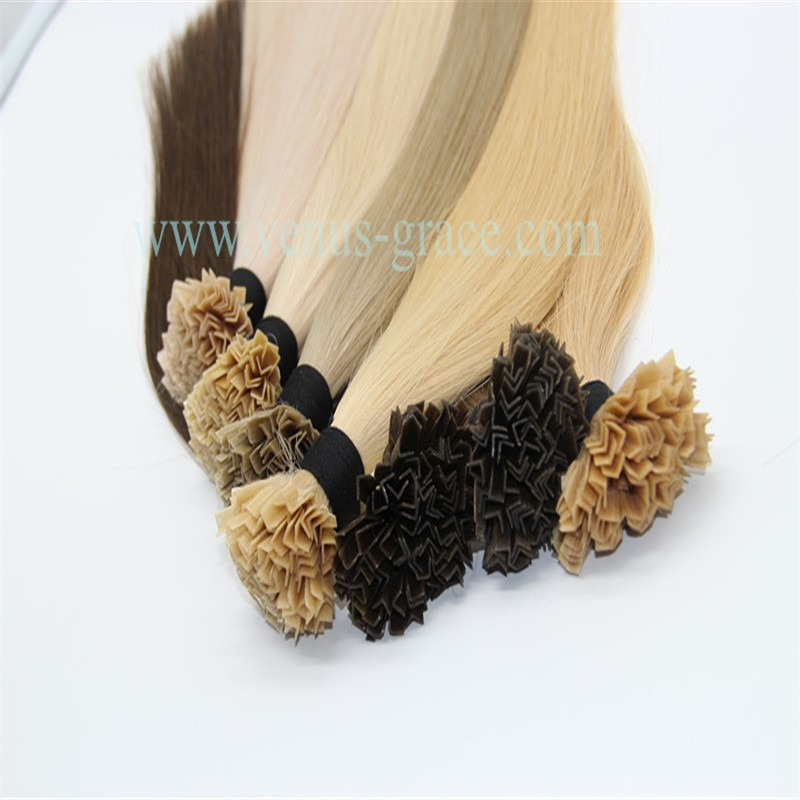 hot selling raw good top quality brazilian vigin wholesale unprocessed V tip hair extension