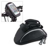 Bicycle Bike Cycling Frame Top Front Handlebar Bag Pouch Cellphone Holder For Mobilephone