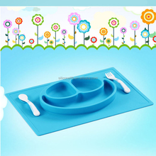 BPA free Non-Stick Silicone Table Mats for Kids Silicone Placemat for Kids