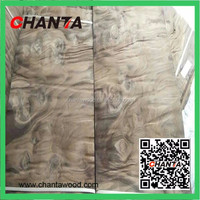 HOT SALE! American black walnut burl wood veneer for hotel decoration