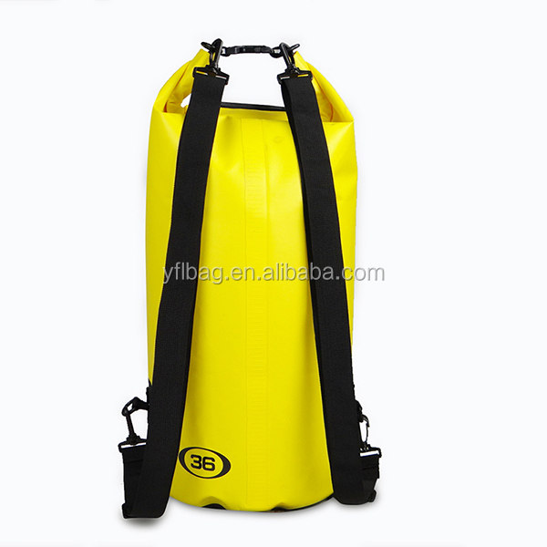 36L waterproof dry bag with two shoulder straps