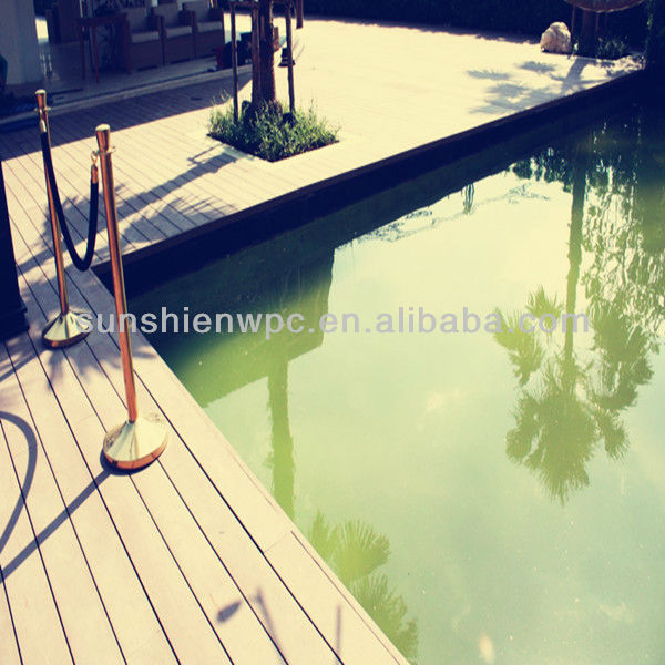 Sunshien water and slip resistance wpc floor for outdoor
