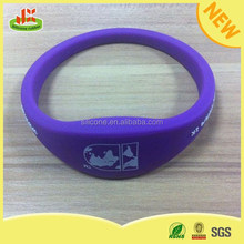 MOQ Bulk Cheap purple Color Silicone smart Bracelet