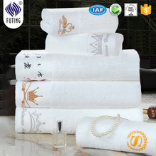 100% cotton 5 star hotel towel/16s hotel towel set, white color hotel bath towel