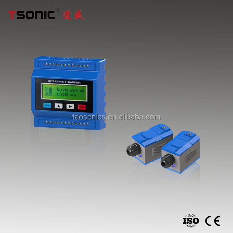 Cheap price module type ultrasonic flowmeter with clamp on transducer