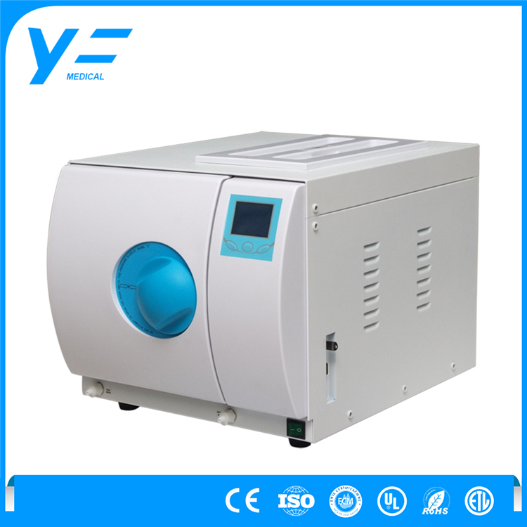 16L Class B Manual Operation 3-times Pre-vacuum The Autoclave Machine For Glass Bottle Tea Milk
