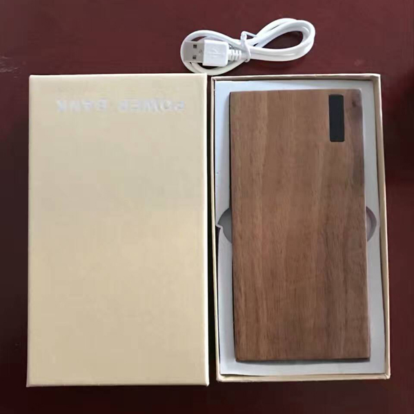 OEM logo wooden portable Power Banks 9000mah for mobile phone