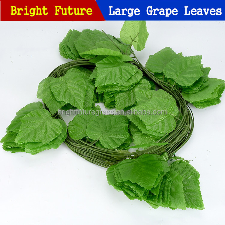 Artificial grape leaf the simulation grape leaves simulated vine european plastic flower vines