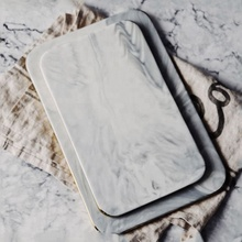 Modern 10/12 inch marbling golden edge flat ceramic <strong>plate</strong>