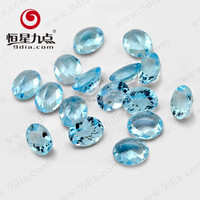 Natural Gemstone Oval Cut 11*9mm Wholesale Sky Blue Topaz For Sterling Silver Jewelry