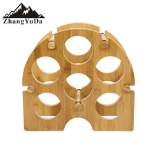 Bamboo Wine Bottle Holder Free Standing Wine Storage Rack Wine Stand Designed for Countertops Tabletops and more - Great For