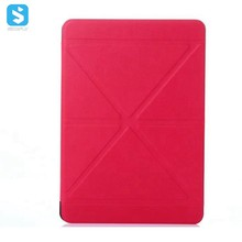 Factory Price Meter-Shaped Transformer PU Leather Cover Kickstand Case for iPad Pro 9.7