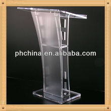 An-a693 Modern Factory Sell Church Pulpit,Church Pedestal Pulpit,Organic Glass Church Pulpit
