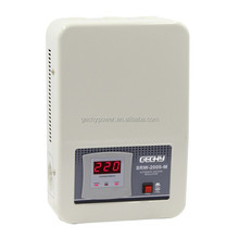 OEM LED relay control automatic wall mounted AC single phase voltage regulator/stabilizer SRW 2KVA