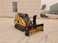 snow blower mini skid steer loader