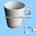 Cute Ceramic Sublimation Recordable Music Mugs