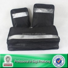 Top selling Lead Free Non Woven T-Shirts Packing Cubes 3pcs Travel Set Bag