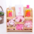 Promotional Cheap 7pcs Pink Baby bathroom set