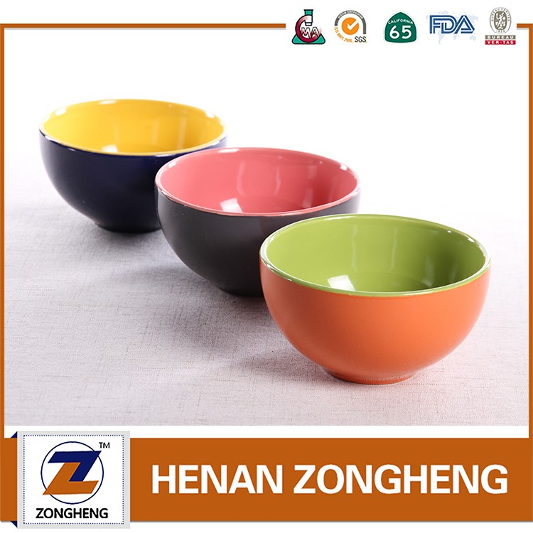 "Best selling Two tone color rice bowl 5"" ceramic bowl wholesale"