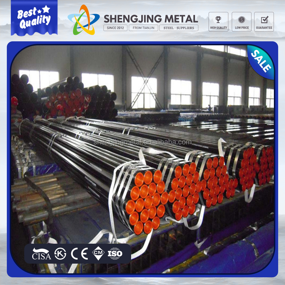 ASTMA53 A106 DIN1629 API 5L cod-drawn structure and fulid seamless steel pipe tube