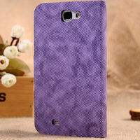 Jean slim flip PU leather case cover for samsung galaxy note 2 N7100