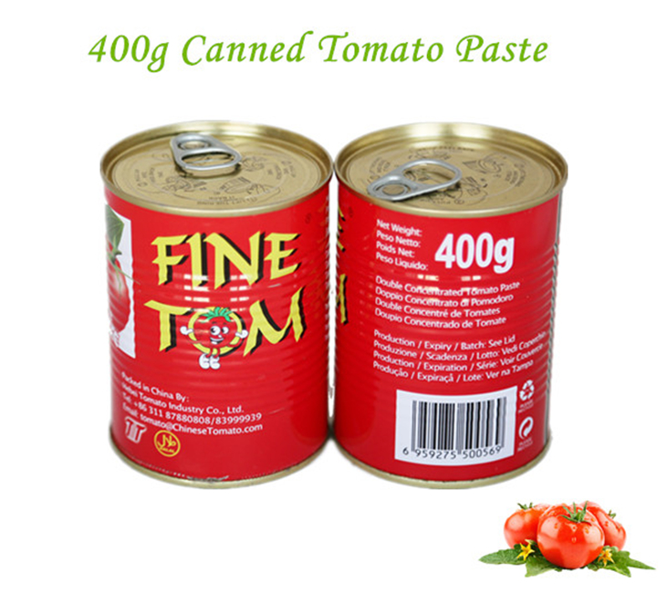 Canned Tomato Paste Top Quality Tomato Sauce with size of 400g*24